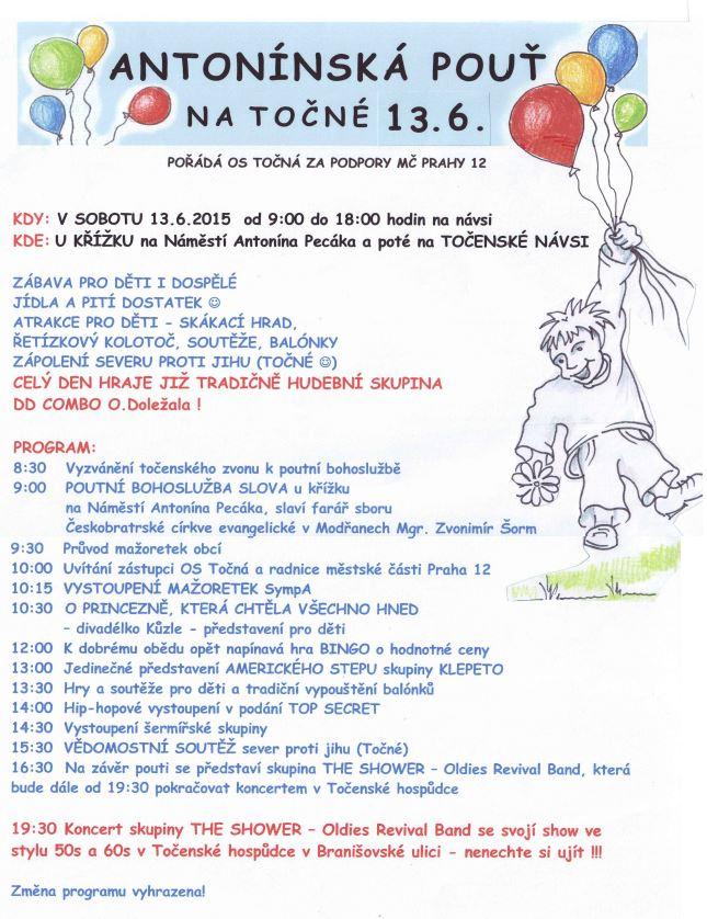 ANTONÍNSKÁ POUŤ 2015 - plakát